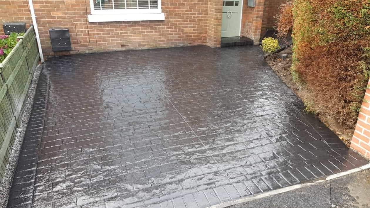 Gloss Imprinted Concrete Driveway North East