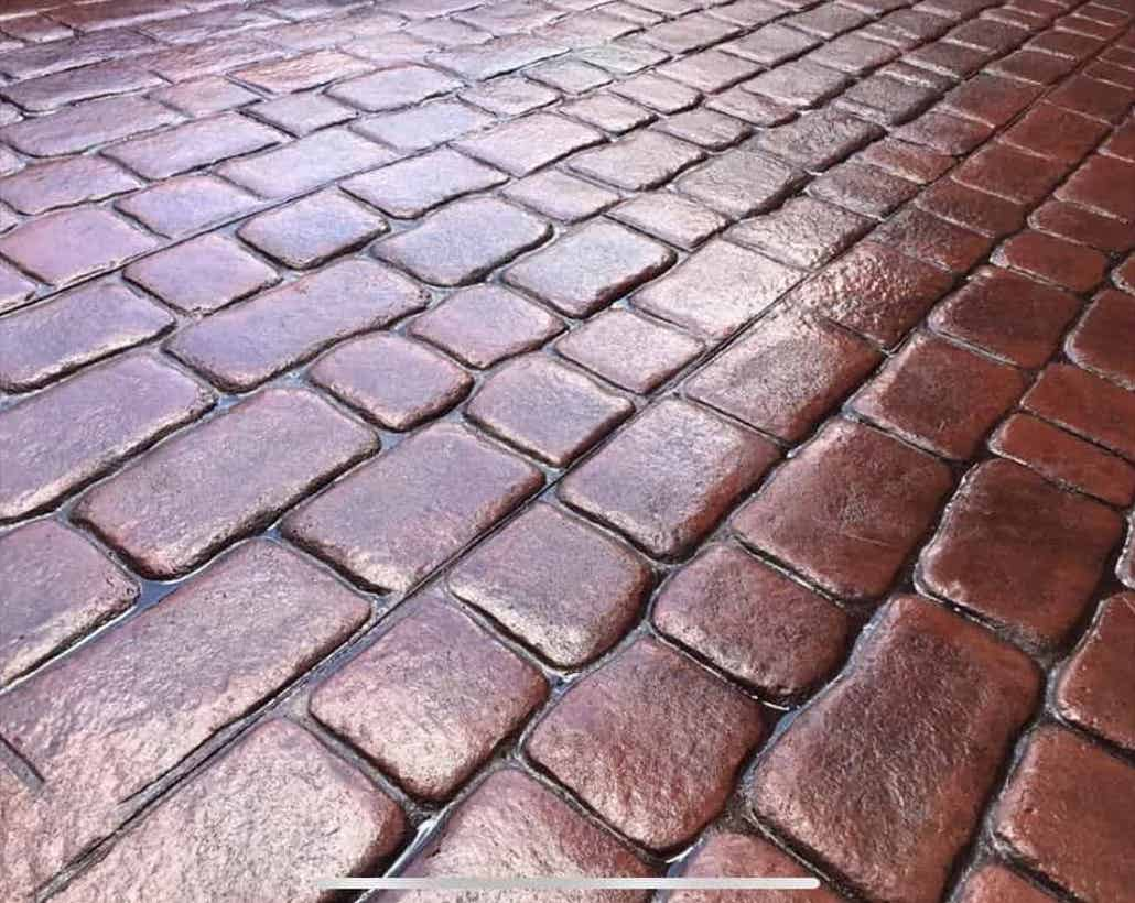 Cobbled Pattern Imprinted Concrete North East