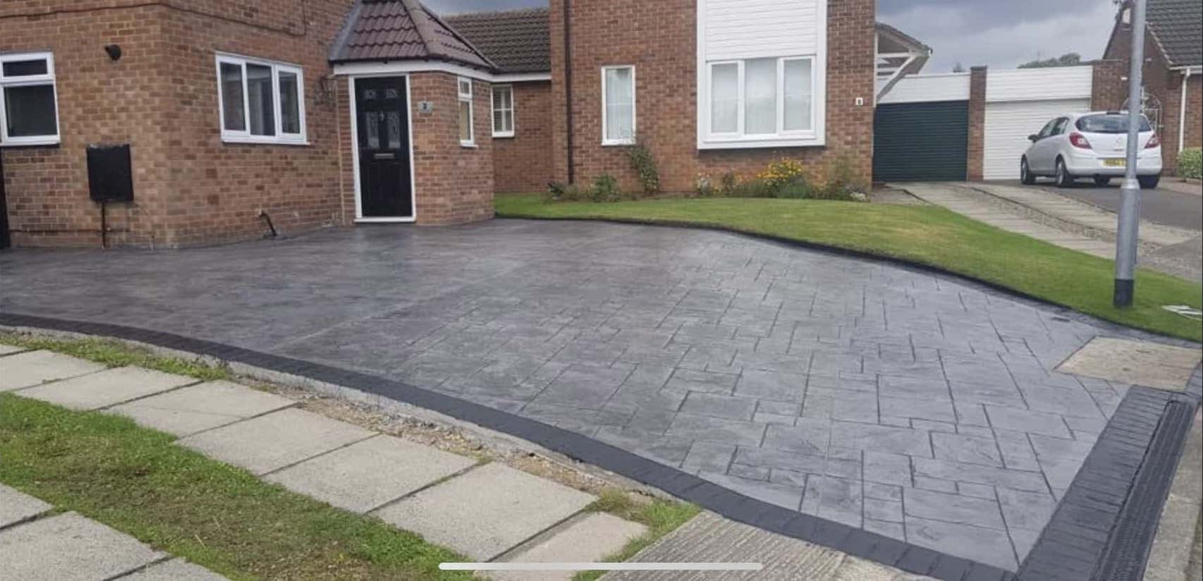 Large Pattern Imprinted Concrete Driveway North East