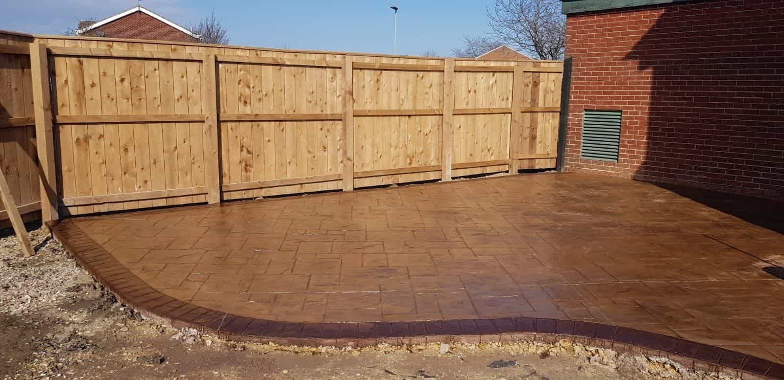 Pattern Imprinted Concrete Patio North East